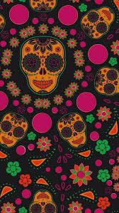 dia de los muertos wallpaper iphone