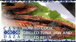 Grilled Tuna Jaw and Tuna Belly