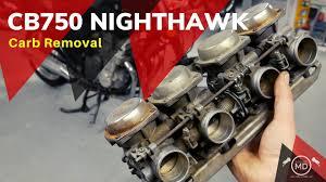 cb750 nighthawk carburetor removal
