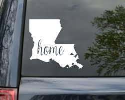 I Love Louisiana Vinyl Bumper Sticker Decal Heart Gift