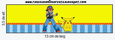 Pokemon Free Printable Candy Bar Labels Invitaciones De