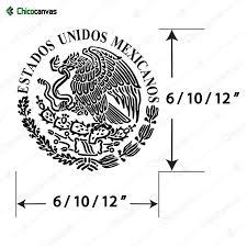 Aguila Mexico Mexican Eagle Flag Bandera Calcamonia Decal Etsy