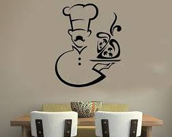 Cocinero Chef Housewares Pared Vinilo Etiqueta Arte Murales Diseno Interior Moderno Cafe Comedor Traditional Wall Art Wall Paint Designs Creative Wall Painting
