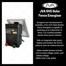 Jva Technologies On Twitter Product Of The Week Jva S Sv5 Solar Electric Fence Energiser For More Information Please Visit Our Online Store Https T Co 7lcvci2uwz Jva Electricfencing Product Sv5 Technical Solarfencing Solarenergiser