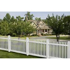 Wambam Traditional 4 By 7 Feet Premium Classic Vinyl Picket Fence With Post And Cap On Galleon Philippines