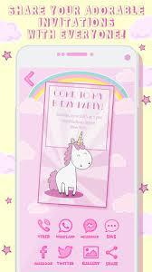 Invitaciones De Cumpleanos Unicornio For Android Apk Download