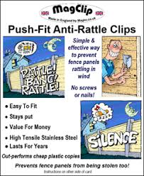 Anti Rattle Fence Panel Security Clips Wedge Grips Stops Rattling Fences Pk 20 Ebay