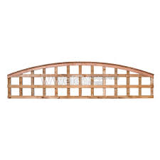 Top Trellis Arched Pressure Treated Brown Fencing