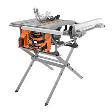 Ridgid 15 Amp 10 In Table Saw With Folding Stand