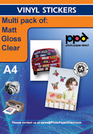 A4 Vinyl Self Adhesive Sticker Paper Clear Matt Glossy Multipack Special Offer At Photo Paper Direct