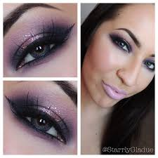 purple eye makeup for green eyes 2020