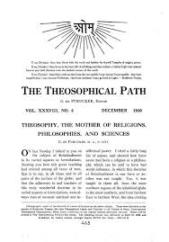 theosophy the mother of religions philosophies and sciences