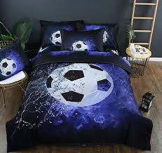 3d bedding set sports theme 3d football