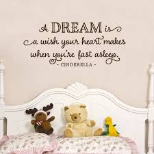 A Dream Is A Wish Your Heart Makes Cinderella Girly Wall Decals