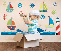 Adventure At Sea Ocean Nursery Wall Decals Yendo Print