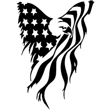 American Eagle Flag Vinyl Decal Sticker