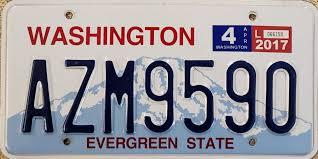 Vehicle Registration Plates Of Washington State Wikipedia