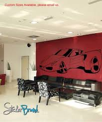 Ferrari Wall Sticker Craft Supplies Arts Crafts Sewing Paper Decorative Paper