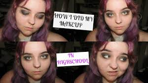 my makeup in high emo scene