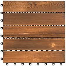 11 pcs 12 x 12 interlocking wood deck