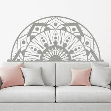 Half Mandala Wall Decals Sticker Fashion Bedroom Decor Boho Bohemian Art Ma213 For Sale Online Ebay