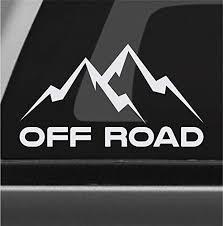 Amazon Com Off Road Mountain Sticker Vinyl Decal 4x4 Rock Crawler Mud Truck Suv Handmade