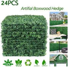 Boxwood Panels 24pcs Artificial Hedge Fence Suitable For Both Outdoor Or Indoor Garden Backyard And Home Decor Artificial Plants Aliexpress