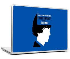 Laptop Skin Create Laptop Skins Sherlock Holmes Funny Little Brains Laptop Skin Postergully