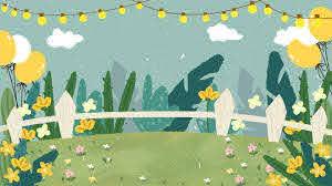 Cartoon Garden Fence Background Cartoon Garden Fence Background Image For Free Download