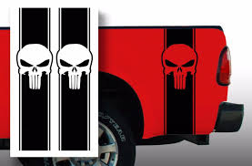 Product Punisher Chevy Ford Dodge Pickup Truck Bed Stripes Decal Stickers Choose Color