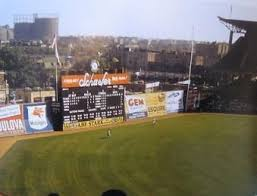 Color Shot Rarely Seen Angle At Ebbets Field 1957 Speaking Of Angles Notice The Rf Fence Brookly Baseball Park Major League Baseball Stadiums Mlb Stadiums