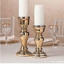 mercury glass pillar candle holders