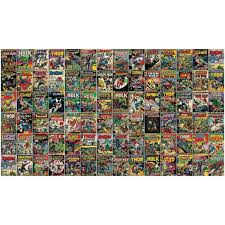 Roommates Marvel Comic Cover Yellow Vinyl Peelable Roll Covers 63 Sq Ft Rmk11410m The Home Depot