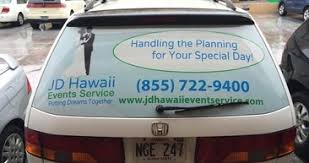 Perforated Window Decal Signs Today Honolulu Hawaii Custom Sign Banners Vehicle Graphics Stickers Magnets Commercial Printing