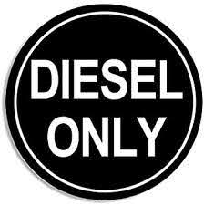 Amazon Com American Vinyl Round Black Diesel Only Sticker Decal Logo Go Green Gas Oil Earth Automotive