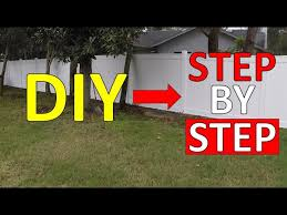 How To Install Vinyl Fence Freedom 6 Step By Step Youtube