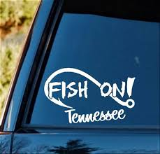 F1090 Fish On Tennessee Fishing Decal Sticker For Car Truck Etsy
