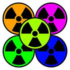 Nuclear Radiation Decal Radiation Symbol Sticker Choose Color Size Ebay