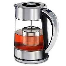 febote electric tea kettle 2 in 1 glass