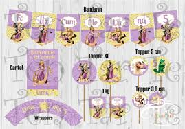 Invitaciones Tarjetas Infantiles Rapunzel X10 180 00 En