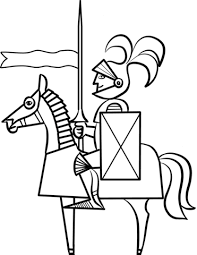Cartoon Knight on Horse coloring page | Free Printable Coloring Pages