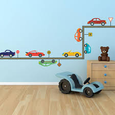 Race Track Road Wall Stickers Removable Decals Matchbox Car Set Nursery Decor