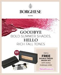 borghese free 5pc bonus gift w makeup