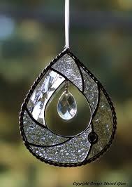 teardrop stained glass suncatcher by