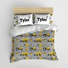 Construction Kids Bedding Personalized By Sweetpeapetiteshop Construction Bedroom Construction Theme Bedroom Big Boy Room