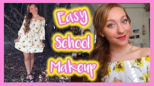makeup ideas for first day of college