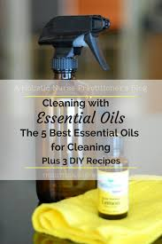 cleaning with essential oils simply
