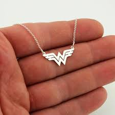 wonder woman necklace sterling silver