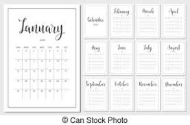 set of compositions for every months calendar planner template