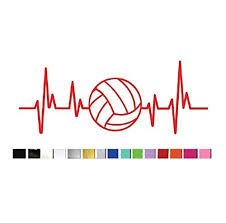 Shopvinyldesignset Of 2 Two Heartbeat Volleyball Vinyl Graphic Decal Stickers For Vehicle Car Truck Window Laptop Tablet Cooler Locker Planner High Quality Outdoor Rated Vinyl Dailymail